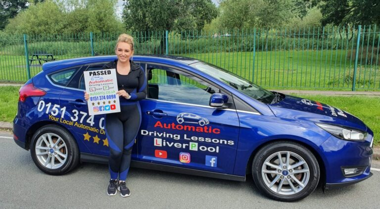 Steph Passes Automatic Driving Test